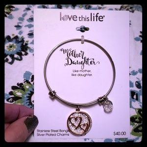 Love This Life- Mother Daughter Bangle Bracelet